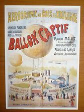 REPRODUCTION AFFICHE BALLON CAPTIF MAURICE MALLET AERONAUTIQUE AVIATION