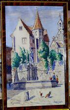 Aquarelle 1931 Eguisheim Alsace