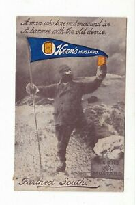 SHACKLETON ANTARCTIC  Farthest South KEENS MUSTARD Advert NSW pc PU1910 MANLY AU