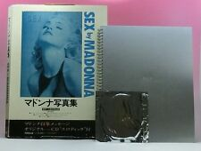 "MADONNA Sex by Madonna JAPAN PHOTO BOOK w/""Erotic"" CD single+Outer Box Free EMS"