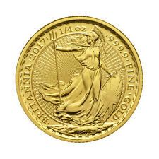 Piece or Britannia 1/4 once or pur 1/4 oz gold coin