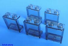 LEGO 1x2x2 Finestra / Vetro trasparente fumo / 5 Pezzi