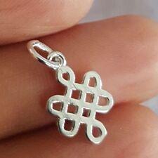 FINE 925 Sterling Silver Celtic Love Knot Pendant Charm Mini Addition
