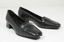 Alligator Print Sz 6 Black Loafers Womens Shoes