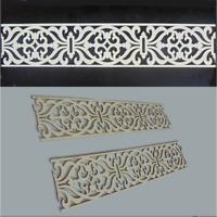 2 lfdm Dekorpaneele Holz mit Ornament Filigrane - Wand- und Deckenverkleidung