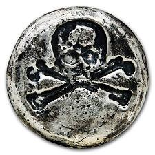 3 oz Silver Round - MK Barz & Bullion (Skull & Bones) - SKU #94315