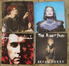LOT of 4 BRYAN FERRY / ROXY MUSIC 45rpm Picture Sleeves (only)