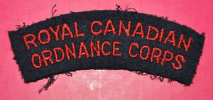 Royal Canadian Ordnance Corps shoulder title flash RCOC badge