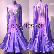 B7528 Elegant competition swing tango waltz dance dress UK 10 US 8 light purple