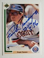 1991 Upper Deck Frank Tanana Autograph Card Signed Rangers Tigers Red Sox Auto