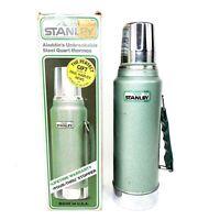 Stanley Aladdin Thermos Steel Metal Bottle A-944DH Pour Thru Spout 1 qt Vintage