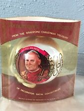 1980 Bradford Treasury Pope John Paul Ii Satin Christmas Tree Ornament