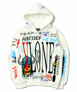 Hip Hop AW VLONE Graffiti Sweats Mens Hoodies Baseball Sweatshirt Coats Jackets