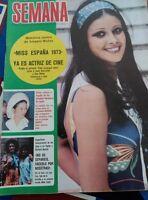 clipping cover amparo muñoz miss spain universo universe liz elizabeth taylor