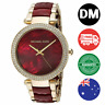 Michael Kors - New Parker Crystal Garnet Acetate Red Dial Womens Watch MK6427