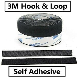 3M HOOK & LOOP Heavy Duty Stick On Self Adhesive Double Sided Fastener Tape