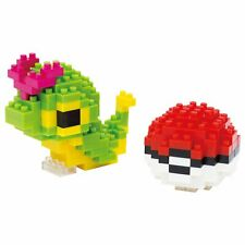 Nanoblock Pokemon NBPM 010 Caterpie Raupy Chenipan Monster Ball