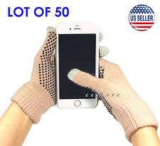 Wholesale Lot of 50 Touch Screen Gloves Smartphone Tablet Pad US Stock (CAMEL)