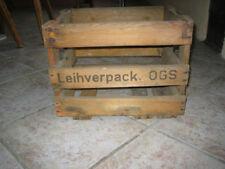 alter leerer Bierkasten bzw. Weinkiste aus Holz Leihverp. OGS