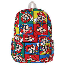 Super Mario Bag Colorful Printed Backpack Student Boy Girl Schoolbag Rucksack