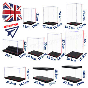 Acrylic Display Case Dustproof Large Box Perspex Clear Collectibles Model 41cm L