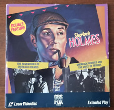 LASERDISC Movie: SHERLOCK HOLMES Double Feature - B&W Collectible