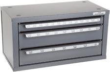 Huot 13000 Three-Drawer Drill Bit Dispenser Cabinet for Jobber Length Fractional