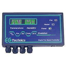 EVOLUTION DIGITAL FAN SPEED CONTROLLER ECO TECHNICS TEMPERATURE HUMIDITY CONTROL