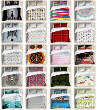 Ambesonne Printed Duvet Cover Set Decorative Bedroom Accent in 3 Sizes