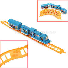 Kids Toy Fun Deluxe Electric Train Set With Lights and Sound Colorful Tracks
