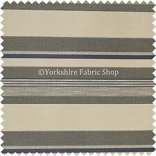 Navy Cream Colour Wide Broad Striped Pattern Chenille Upholstery Fabric