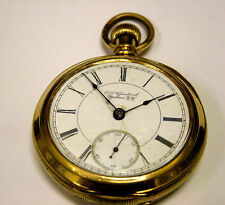 Rare Antique 1887 Rockford pocket watch 18s 11j grade 66 Private lable