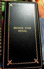 "Bronze Star Set-Medal Ribbon Bar Lapel Pin- ""6/69 Original Box Gi Issue-Coffin"""