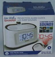 New open box Sharp Projection Alarm Clock Sleep Sounds