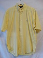 Ralph Lauren Button-Down Hemd Blake kurzarm gelb Größe M