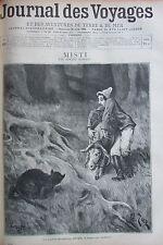 Zeitung der Voyages Nr. 929 von 1895 Odysee D ein Esel Savant in Java /