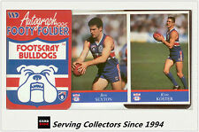 1995 AFL Footy Players Mini multifold picture Folder--Footscray