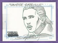 ᴕ 2004: Xena Art & Images: Vampire Gabrielle Sketch by Scott Rosema