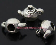 P826 5pc Tibetan Silver teapot Charm Beads Pendant accessories wholesale