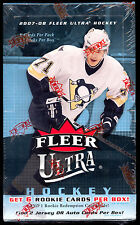 2007-08 Fleer Ultra Hockey UNOPENED Sealed Box 21 packs AUTO PRICE TOEWS KANE RC