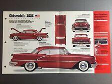 1954 - 1956 Oldsmobile 88 IMP Hot Cars Spec Sheet Folder #8-7