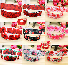 ❤️ ROSES & LOVE  HEARTS RIBBON❤️ Sold by the Meter
