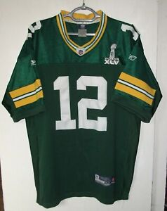 Green Bay Packers Reebok Authentic NFL Jersey Super Bowl Aaron Rodgers size 52