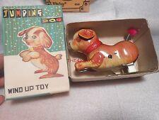 Jumping Dog Tin Wind Up Dog in Box