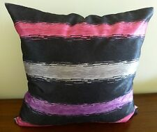 Brush Strokes Black Grey Purple Magenta cushion cover 45x45