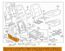 GM OEM Passenger Seat-Outer Finish Panel 22844145