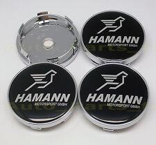 4  Caches Jante moyeux - Centre de roue Boulon - BMW HAMANN- 60mm