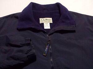 L.L. Bean Womens Large L/S Full Zip Fleece Lined Blue Three Season Jacket