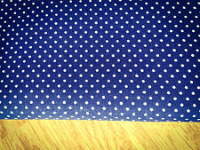 Shabby Chic Spots on Dark Blue 100% Cotton Fabric. Price per 1/2 meter