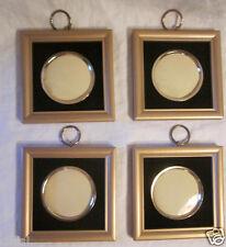 4 Vintage Modern Square Gold Plastic Black Felt Photo Frame Price Import Japan